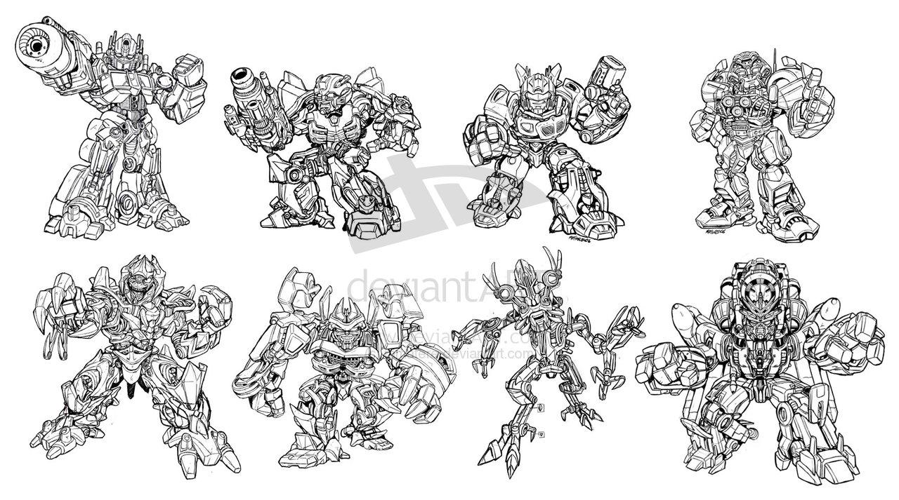 Robot Concept Drawings The Original Concept Art