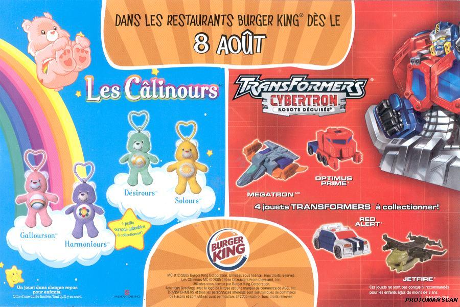 Transformers Burger King Burger King Cybertron