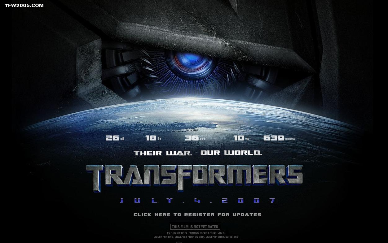 transformers movie website launched their war our world