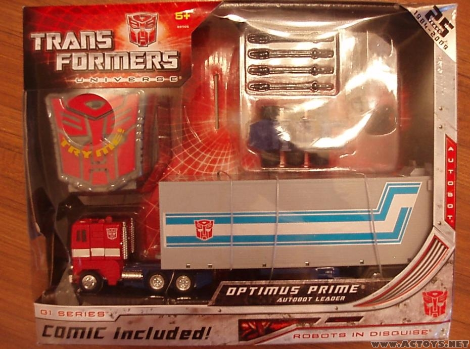 25th anniversary transformers optimus prime