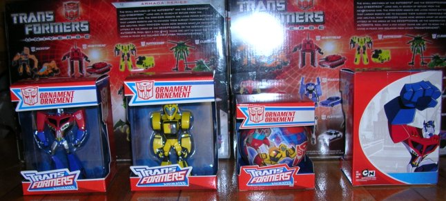 Transformers Animated Christmas Ornaments Found - Transformers ...