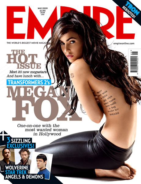 Empire Magazine. This tattoo can be seen on her left shoulder.
