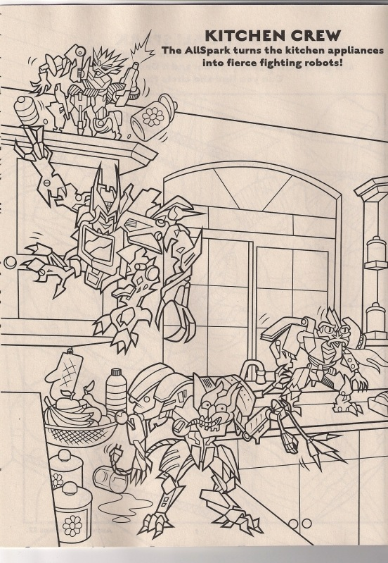 Revenge Of The Fallen Coloring Book Preview Transformers