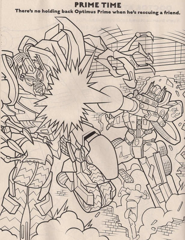 Revenge Of The Fallen Coloring Book Preview Transformers News