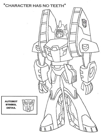 Transformers animated starsceam free coloring pages for Starscream coloring page