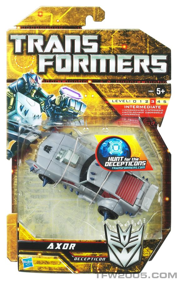 New hunt for the decepticons and power core product images for Axor transformers