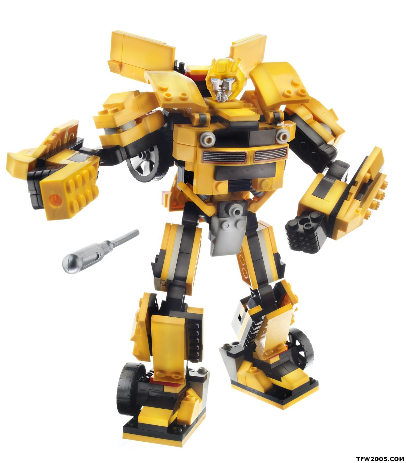 Lego Transformers Toys : Official high resolution kre o bumblebee optimus prime