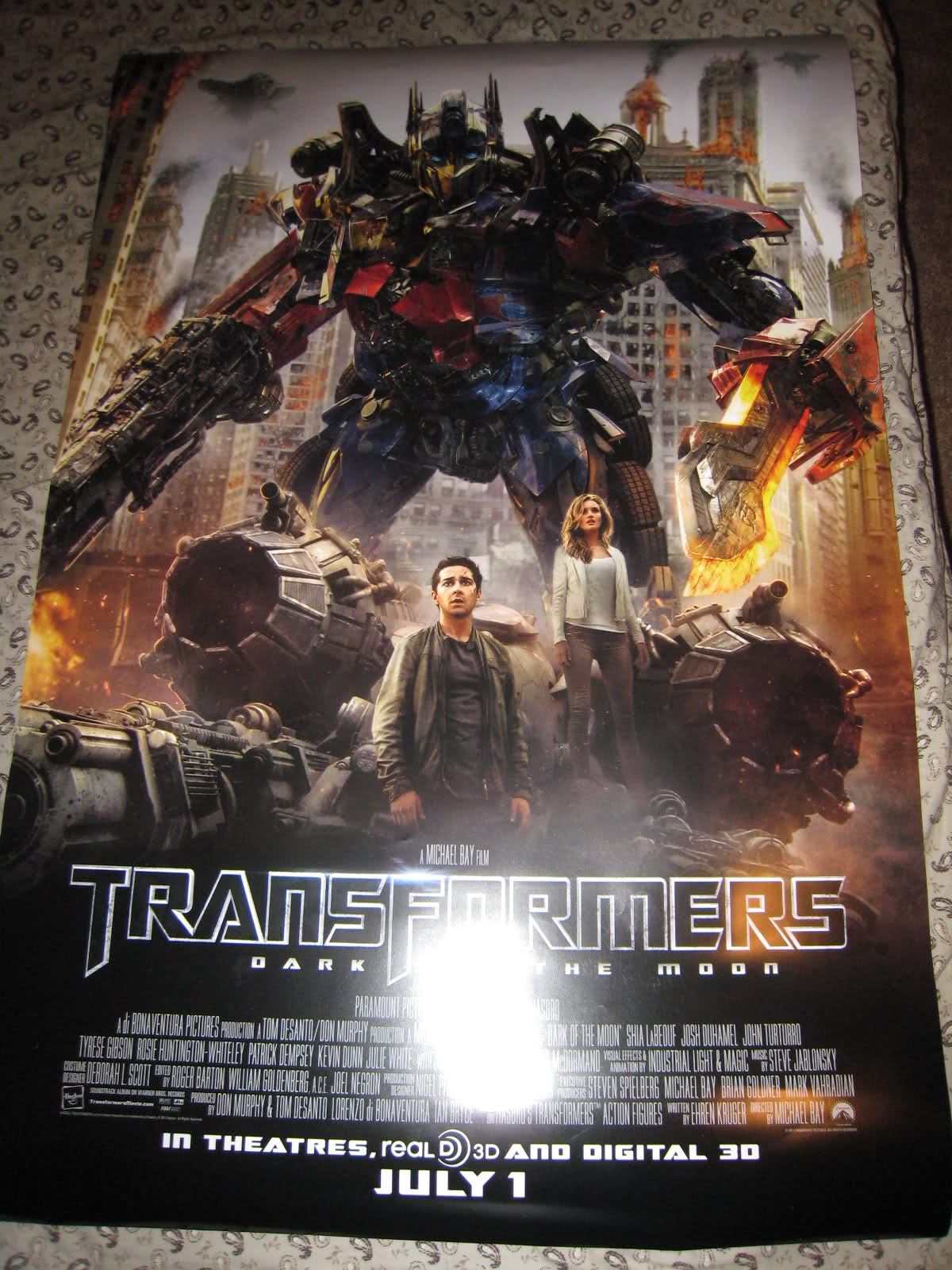 Transformers dark of the moon posters and banners for 3 by 3 prints