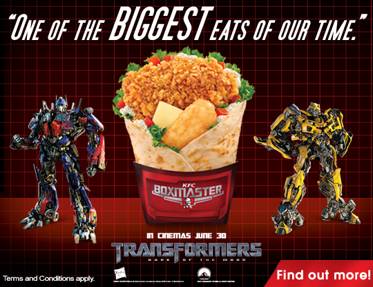 Kfc Toy Food : Kfc transformers dark of the moon promotion