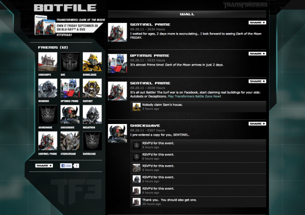 TF3FRIDAY Marketing Campaign  BOTFILE Cybertrons Social Network
