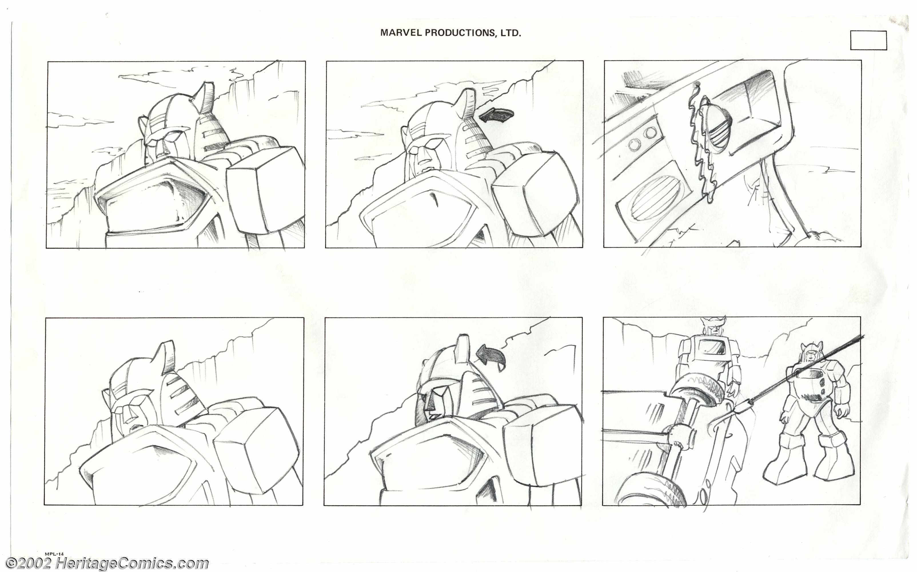 Original G1 Cartoon Storyboards - More Than Meets The Eye ...