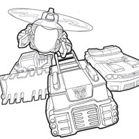Transformers Rescue Bots Coloring Pages and Promo Still