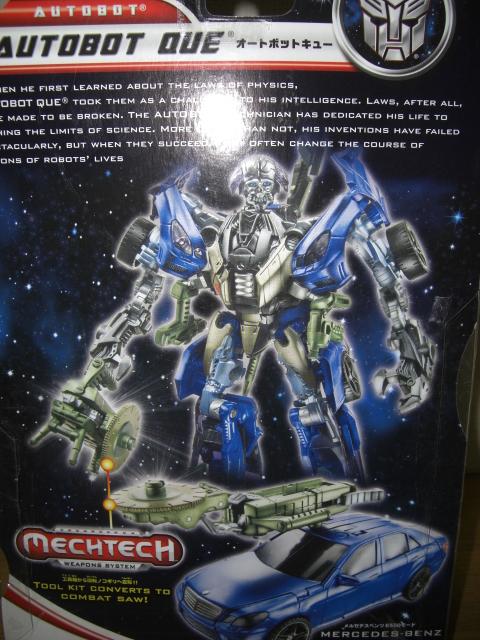 Transformers Que Toy Takara da-31 autobot que andQue Transformers 3