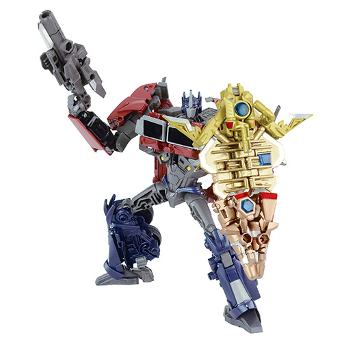 Japanese Transformers Toys : Japanese toys r us exclusive battle shield optimus prime