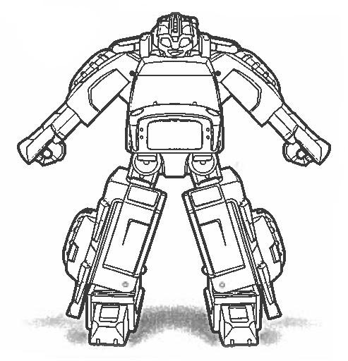 Optimus prime coloring page