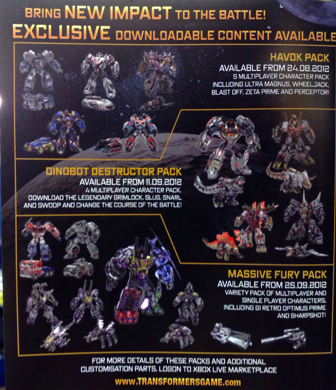 dlc Fall of Cybertron Upcoming DLC ContentFall Of Cybertron Sunstreaker