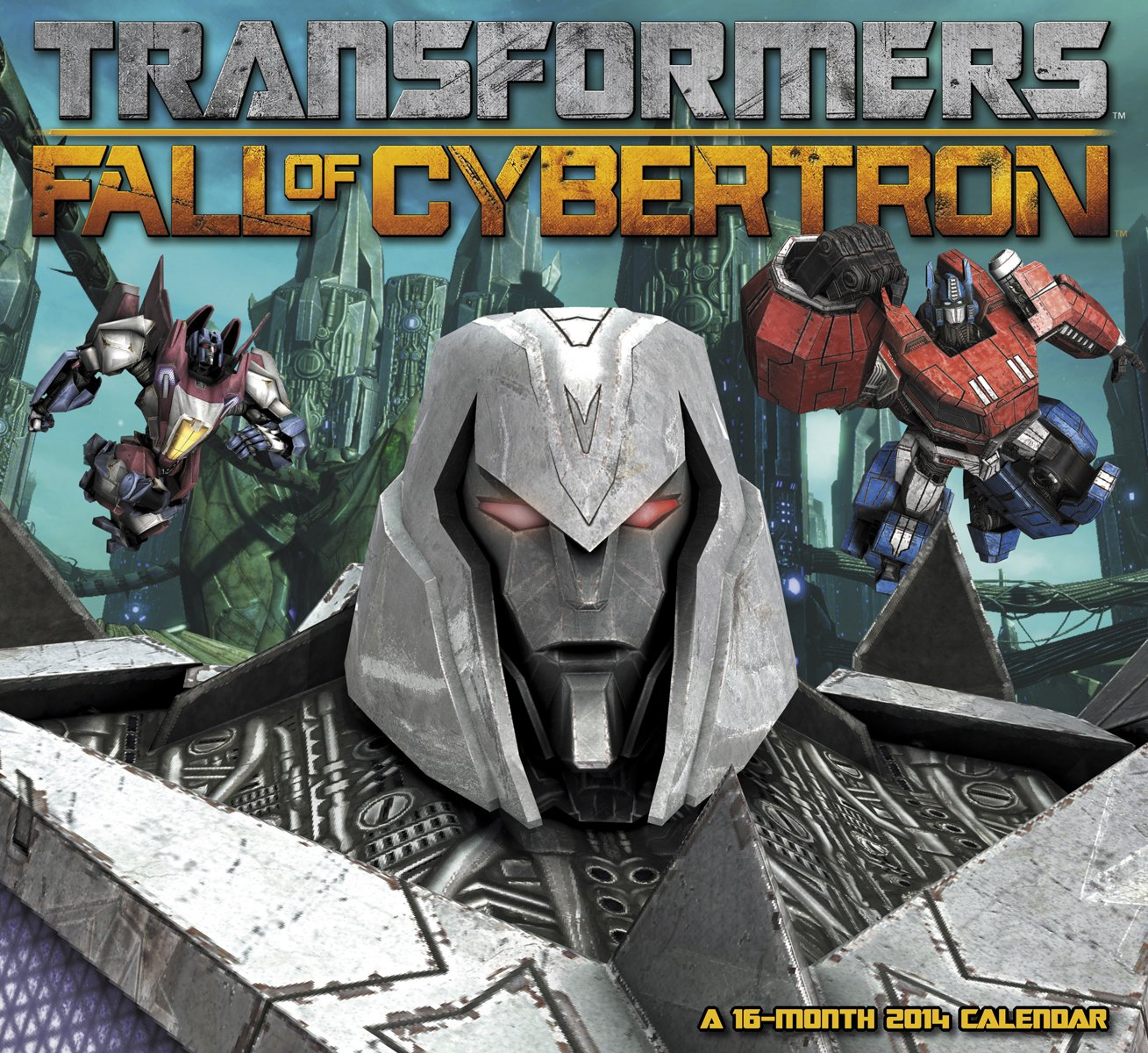 transformers fall of cybertron 2014 wall calendar sample images