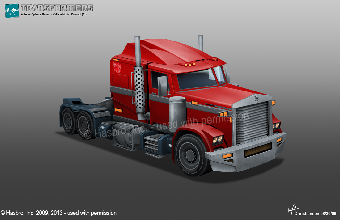 Transformers Prime Optimus Prime Truck Mode Preliminary