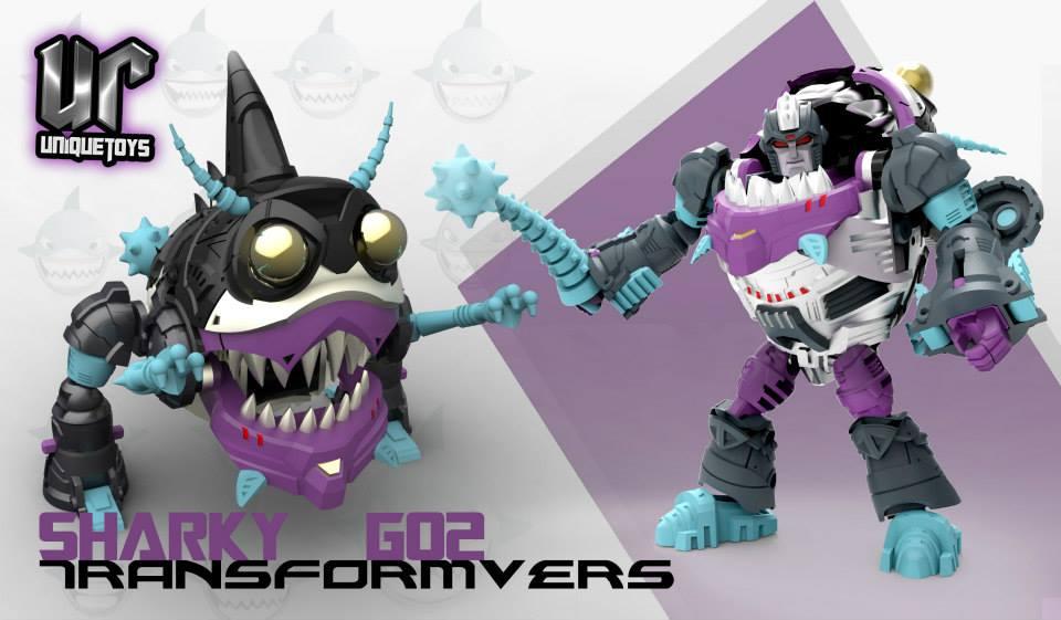 Produit Tiers: [Corbot V] CV-002 Mugger - aka Allicon | [Unique Toys] G-02 Sharky - aka Sharkticon/Requanicon 1374970_1459224590969826_2128780873_n_1382394402