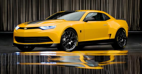 Transformers-Age-of-Extinction-Bumblebee-Chevrolet-Camaro-GM-Sonic-Trax-Corvette