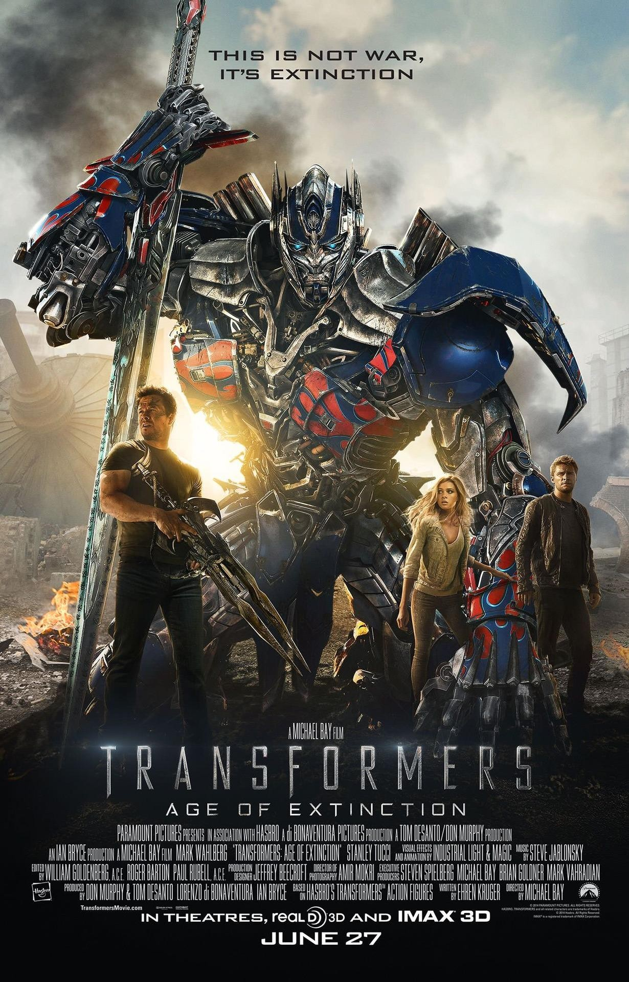 new transformers 4 age of extinction poster featuring optimus prime