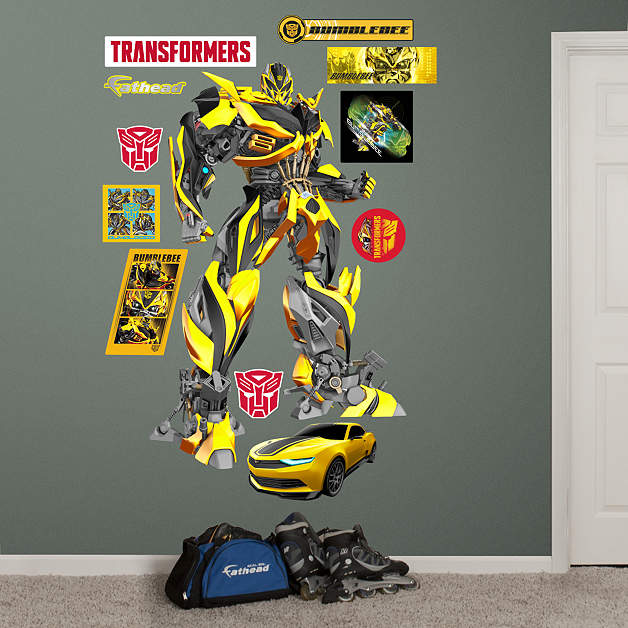 Transformers age of extinction wall decals transformers for Bumble bee mural