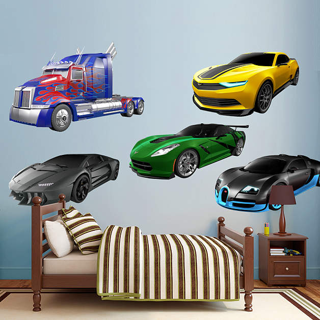 Cars 1 & Transformers Age of Extinction Wall Decals - Transformers News - TFW2005
