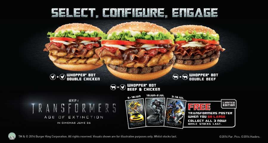 Transformers Burger King Burger King Singapore Have