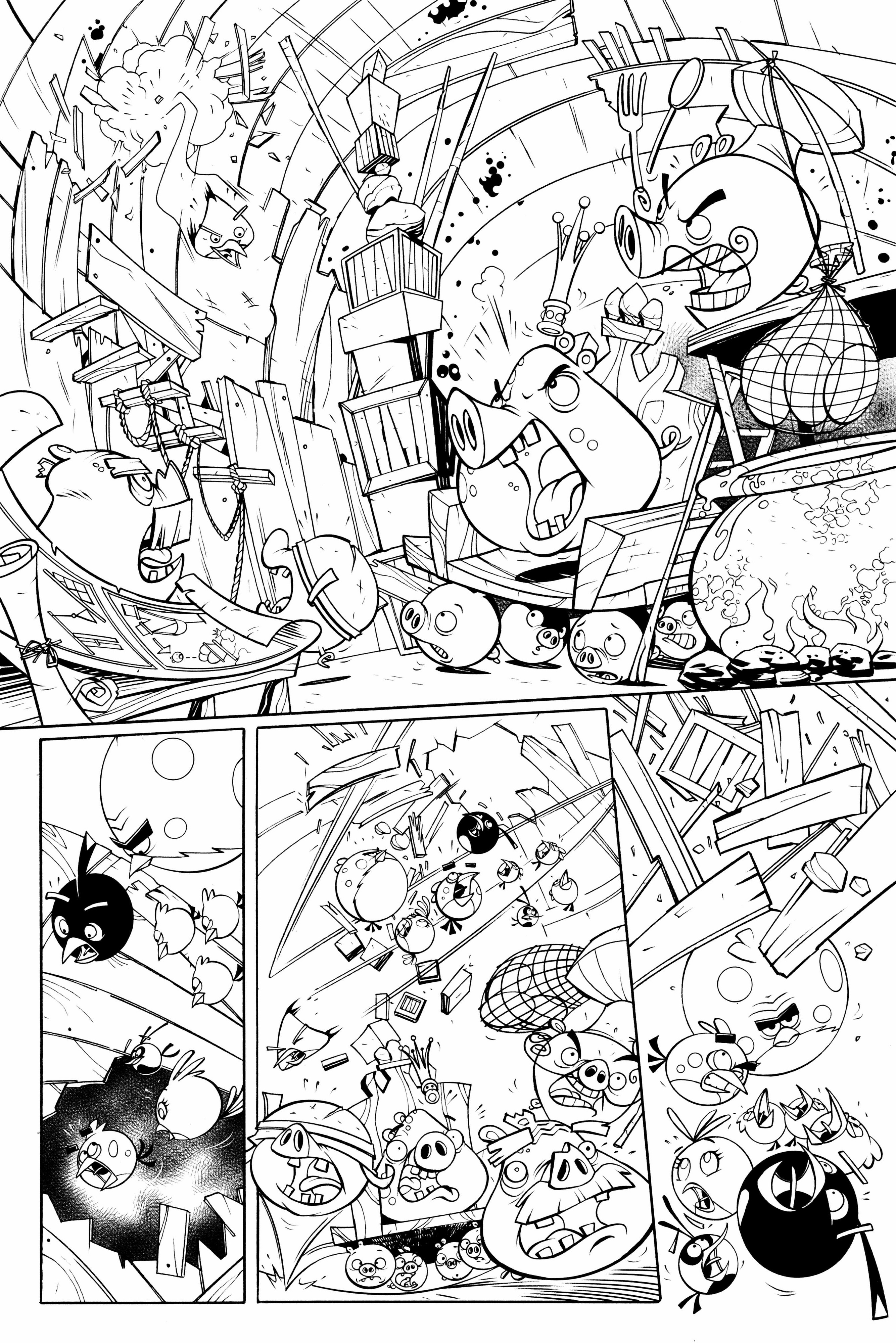 Free Transformers Angry Bird Coloring Pages