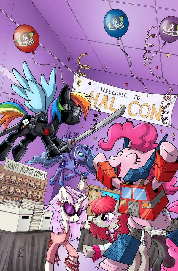 Hal Con Exclusive Mlp 24 Cover Featuring Transformers