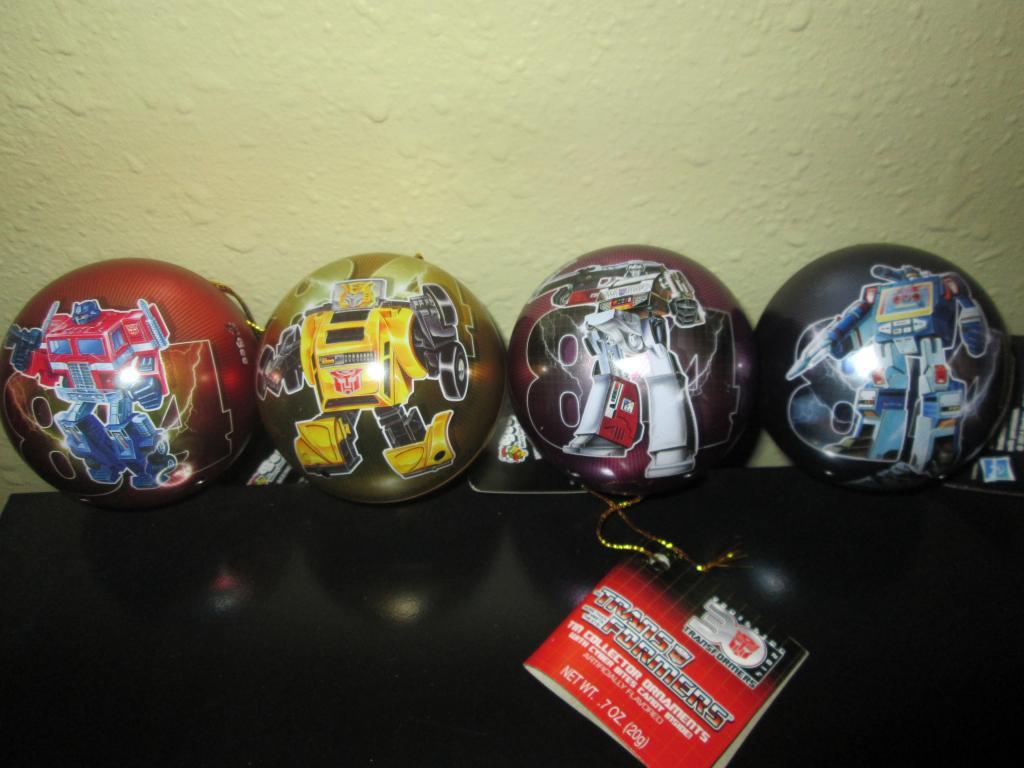 30th Anniversary Transformers Tin Christmas Balls - Transformers ...
