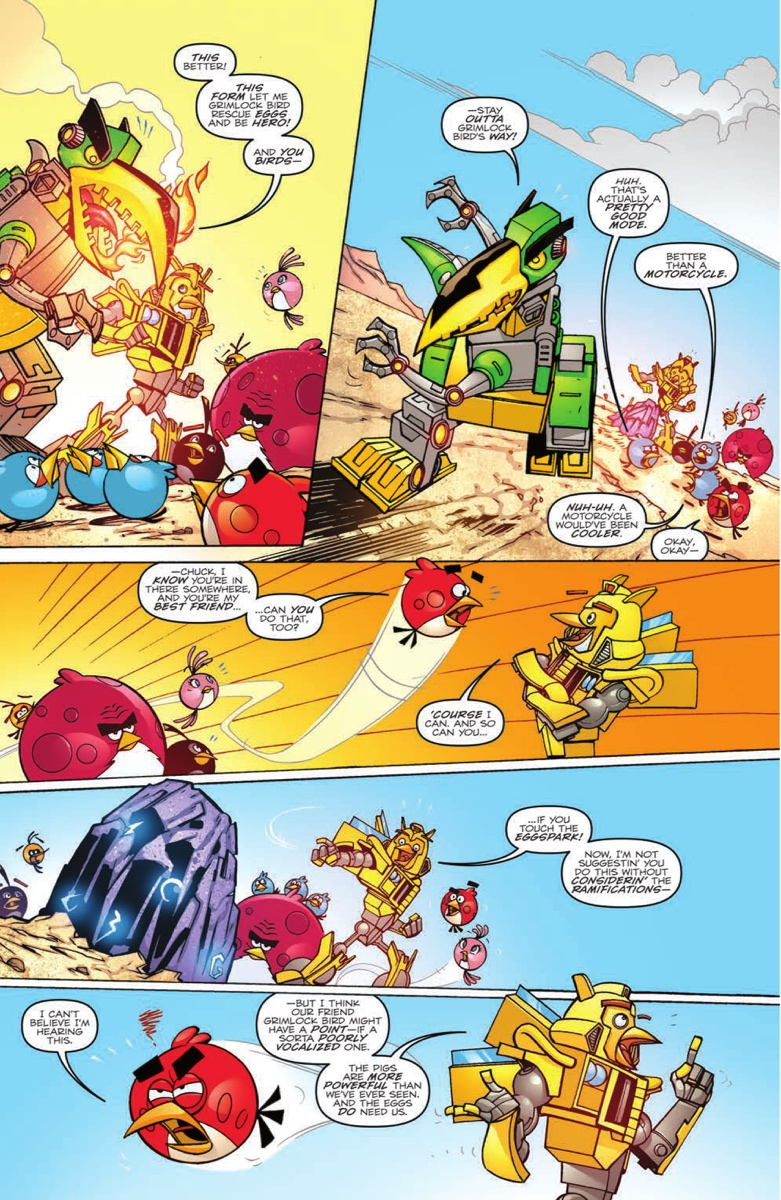 dual idw comic preview transformers 36 amp angry birds