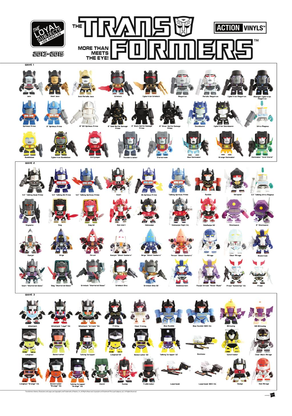 Loyal Subjects SDCC 2015 Transformers Poster
