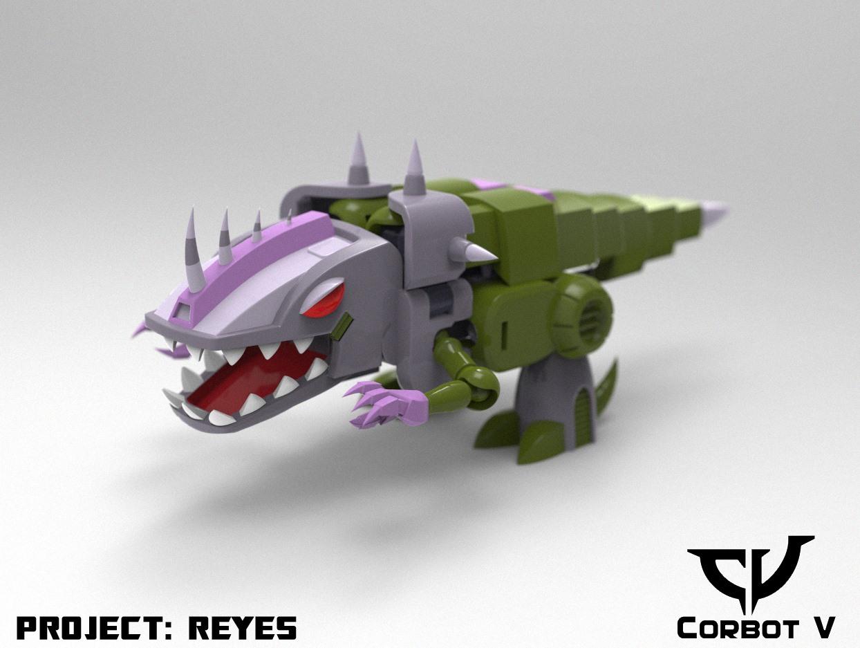 Produit Tiers: [Corbot V] CV-002 Mugger - aka Allicon | [Unique Toys] G-02 Sharky - aka Sharkticon/Requanicon Rehyes