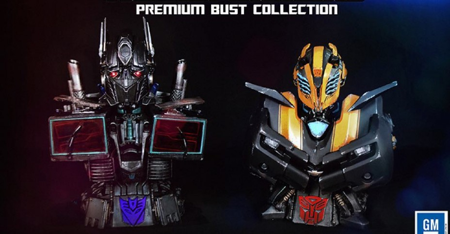 wf2015 exclusive nemesis prime and stealth bumblebee busts