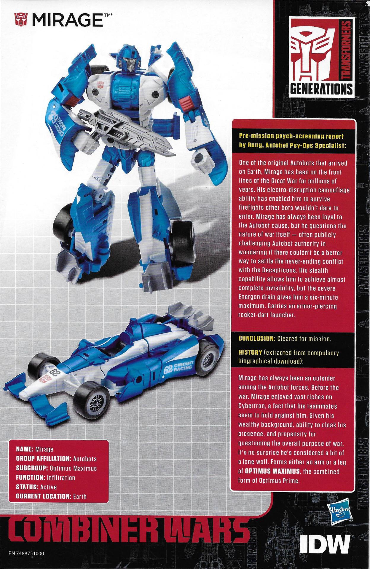 Combiner Wars Deluxe Wave 4 Comic Pack-In Bios - Transformers News ...