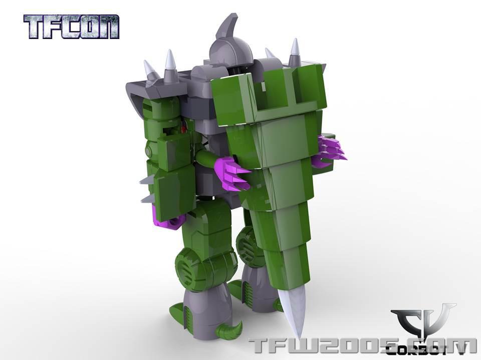 Produit Tiers: [Corbot V] CV-002 Mugger - aka Allicon | [Unique Toys] G-02 Sharky - aka Sharkticon/Requanicon TFCon-USA-2015-052