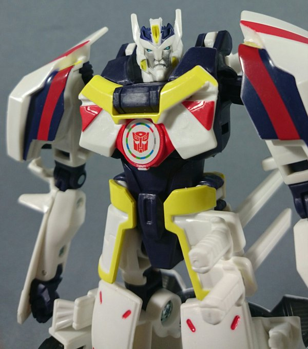 transformers adventure drift origin mode and jazz two pack in hand