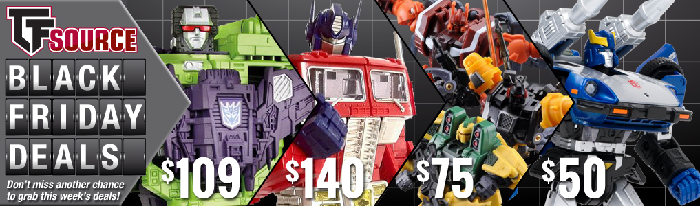 Sponsor Update Tfsource Black Friday Sale Live Transformers News Tfw2005