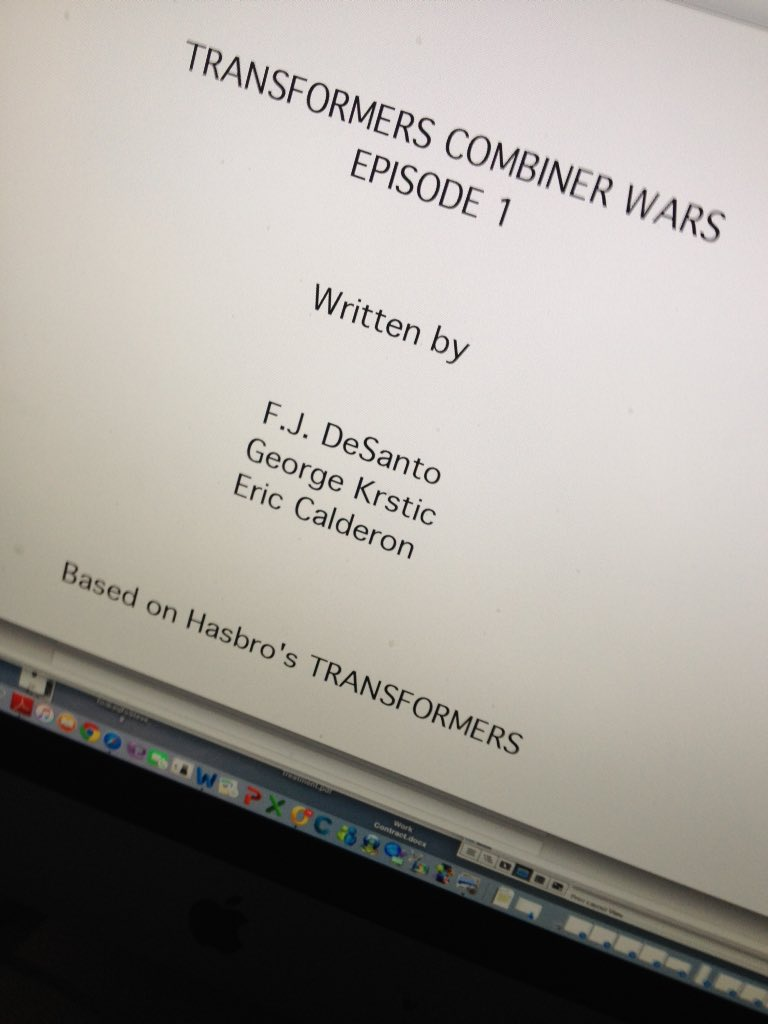 Web-series par Machinima: Transformers Combiner Wars, Titans Return & Power of the Primes - Page 2 Combiner-Wars-Script