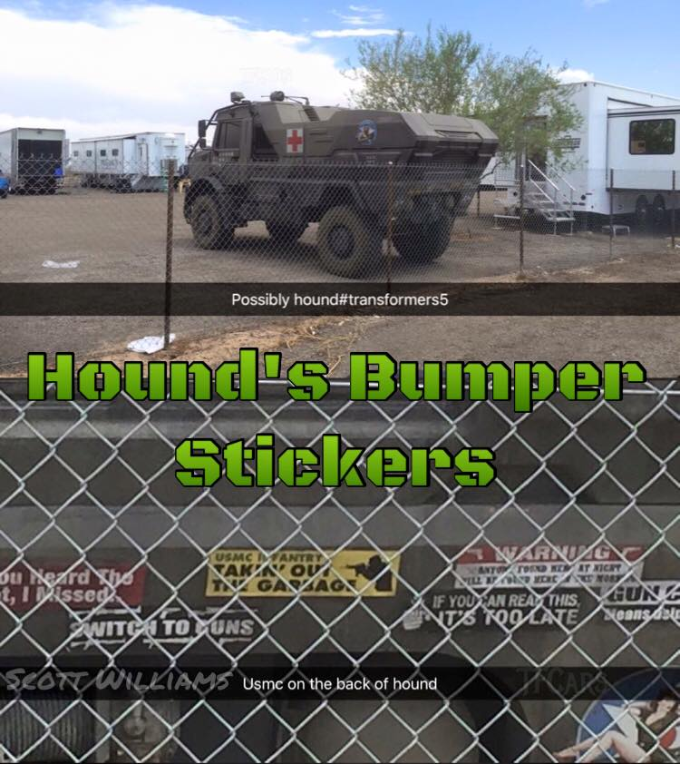 TF5 Hound Stickers