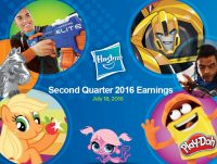 Hasbro 2016 Q2 Financial Call Boulder Media Studio Transformers