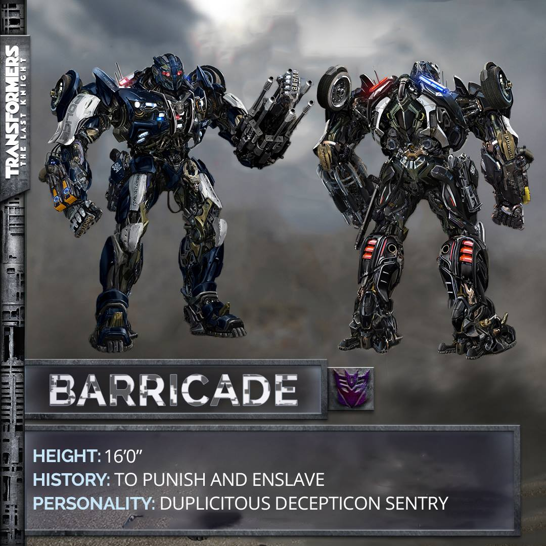 transformers 5 the last knight barricade revealed transformers news tfw2005. Black Bedroom Furniture Sets. Home Design Ideas