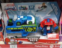 Rescue Bots Optimus Prime with Blurr in Australia