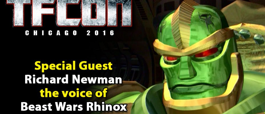Transformers Voice Actor Richard Newman to attend TFcon Chicago 2016