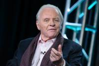 "Sir Anthony Hopkins appears onstage during ""The Dresser"" panel at the Starz 2016 Winter TCA on Friday, Jan. 8, 2016, in Pasadena, Calif. (Photo by Richard Shotwell/Invision/AP)"