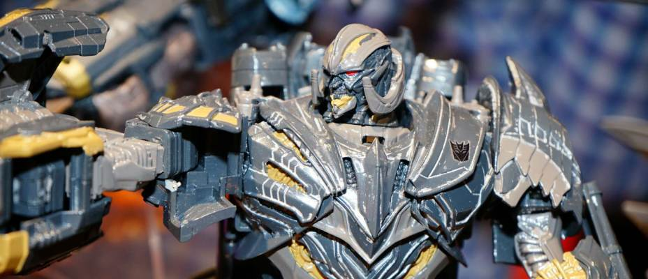 Toy Fair 2017 Transformers the Last Knight movie toys display