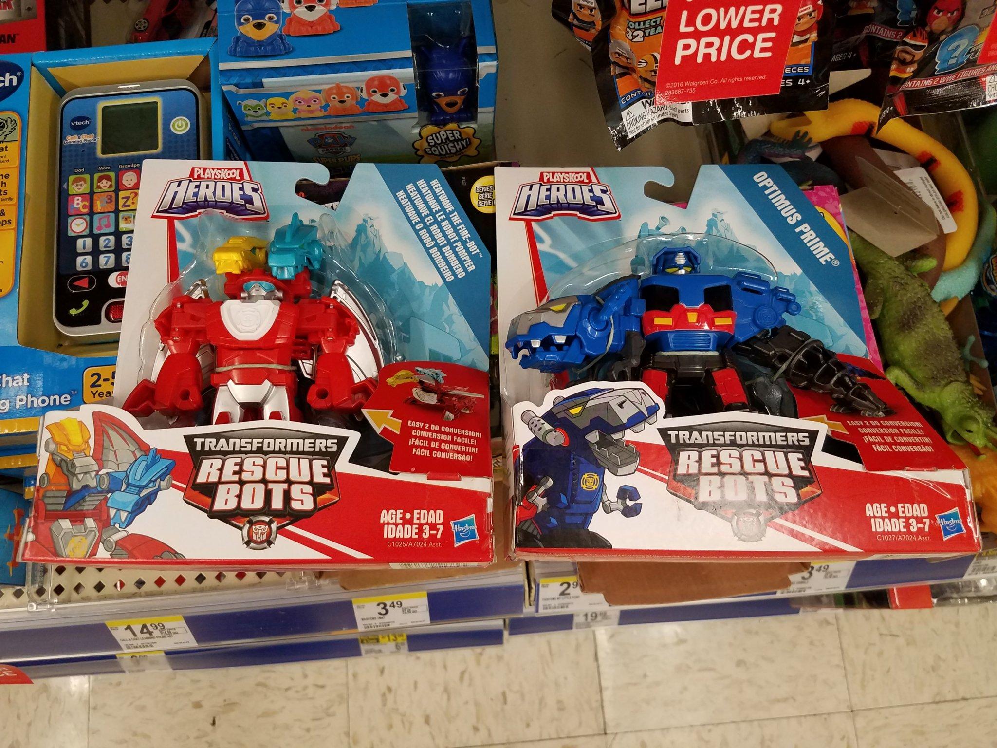 Rescue Bots Heatwave and Optimus Prime US Retail Sighting
