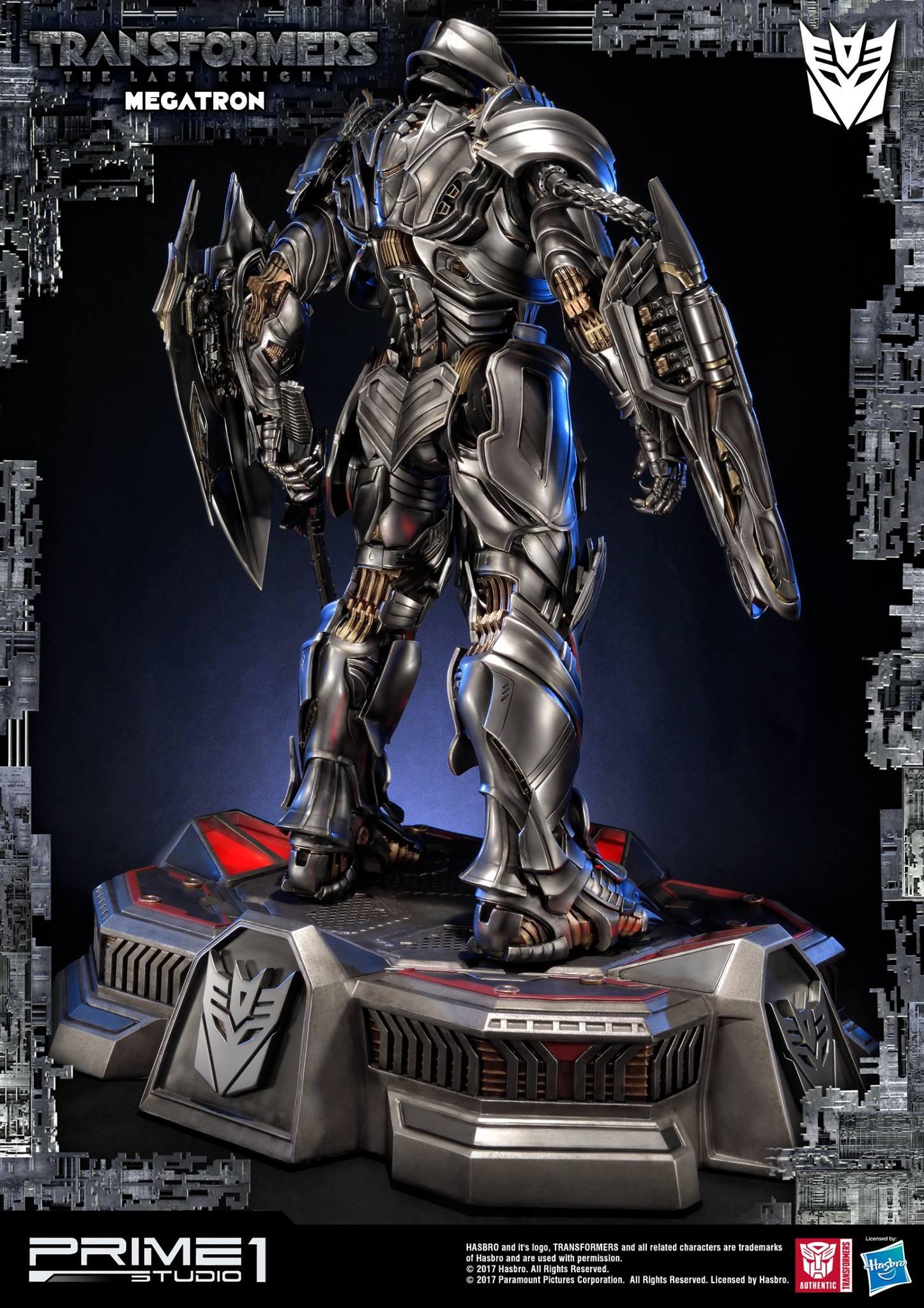 prime 1 studios the last knight megatron statue - transformers news