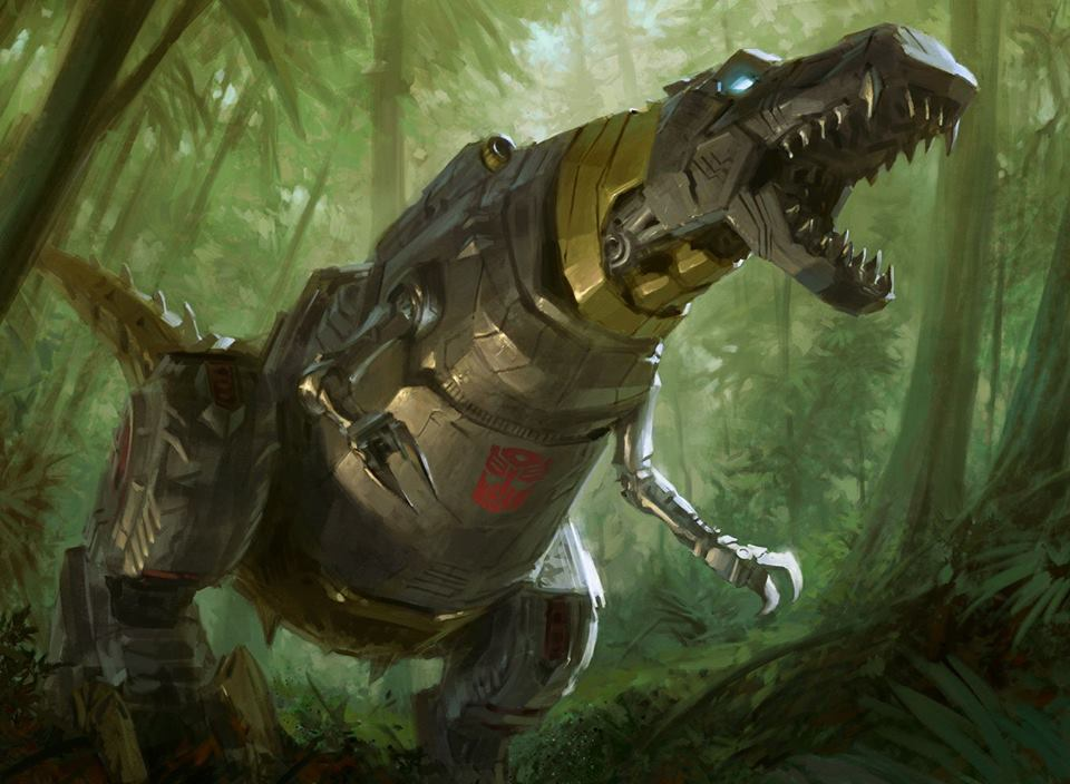 Tyler Jacobson Grimlock Art For Exclusive Magic The